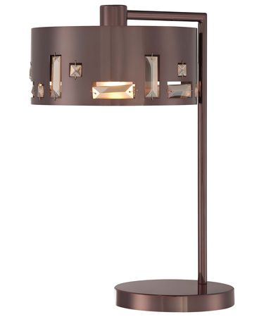 Shown in Chocolate Chrome finish, Clear with Inside Etched Diffuser glass and Perforated Steel withTeak Crystals shade