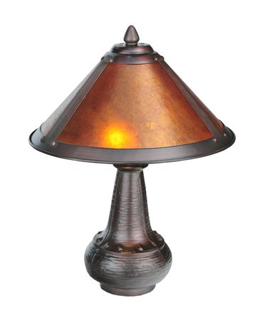 Shown in Mahogany Bronze finish and Amber glass