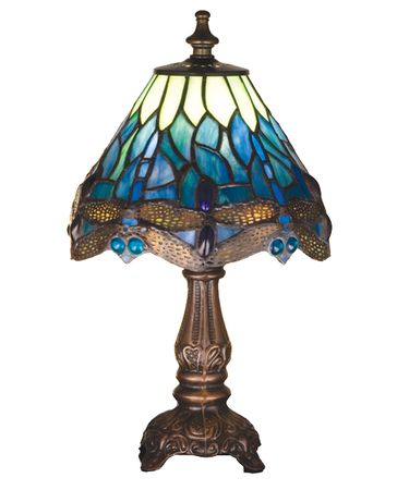 Shown in Mahogany Bronze finish and Blue-Green glass
