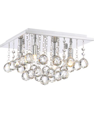 Shown in Polished Chrome finish and Clear Crystal accent