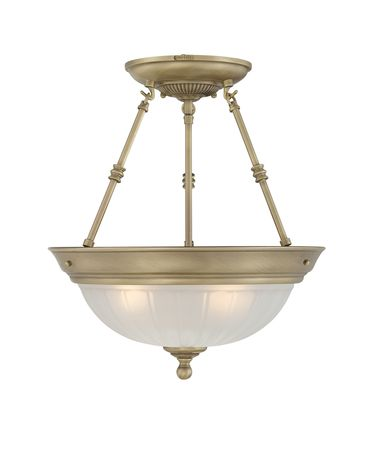 Quoizel ML1715 Melon 15 Inch Semi Flush Mount