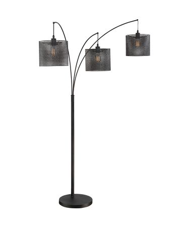 Shown in Black finish and Steel shade