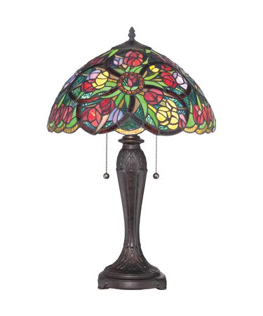 Shown with  and Tiffany glass