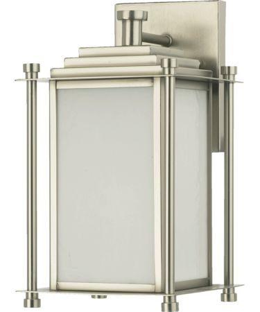 Shown in Satin Nickel finish and Opal glass