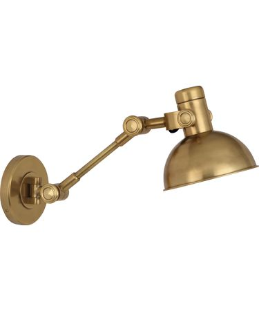 Shown in Antique Brass finish and Brass Metal shade