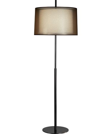 Shown in Deep Patina Bronze finish and Bronze Transparent Fabric Exterior - Ascot White Fabric Interior shade