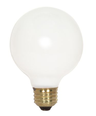 Satco S3443 100 Watt 120 Volt Gloss White G25 Medium (E26) Bulb