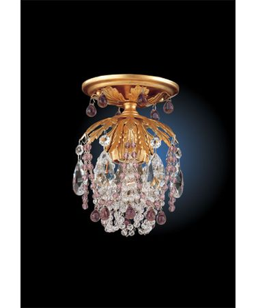Shown in French Gold finish and Amethyst crystal