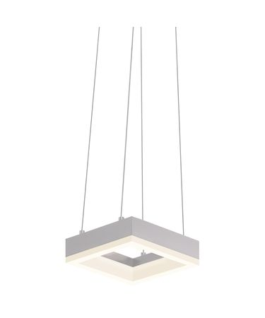 Shown in Bright Satin Aluminum finish and Frosted shade