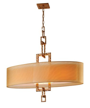 Shown in Bronze Leaf finish and Hardback Organza shade