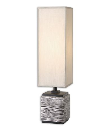 Shown in Painted Silver finish and Tall Square Box shade