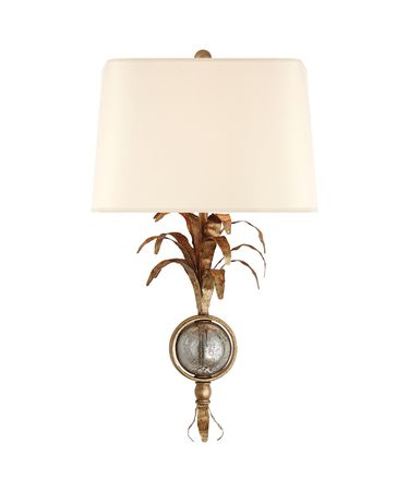 Shown in Gilded Iron finish and Natural Paper Shield shade