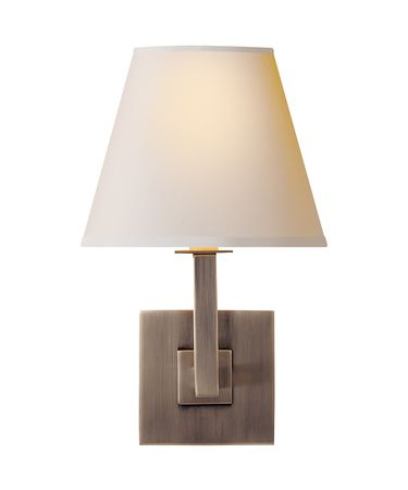 Shown in Brushed Steel finish and Natural Paper Round shade