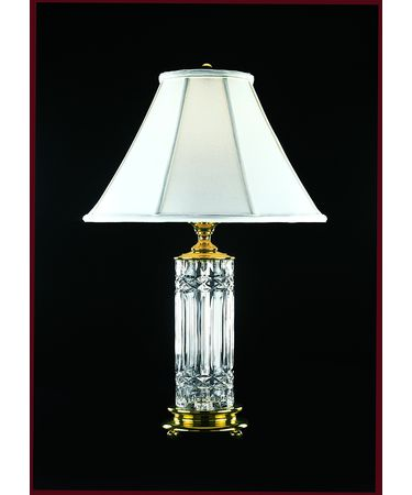 Shown in Polished Brass finish and White Starlite Soft Shade shade