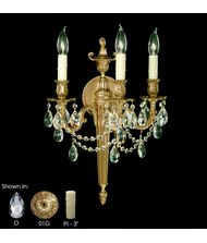 American Brass and Crystal WS2113  14 Inch Wall Sconce