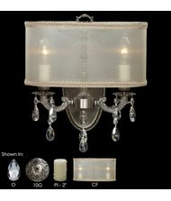 American Brass and Crystal WS6532 Llydia 12 Inch Wall Sconce