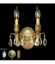 American Brass and Crystal WS9402 9400 Series 9 Inch Wall Sconce