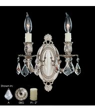 American Brass and Crystal WS9412 9400 Series 9 Inch Wall Sconce