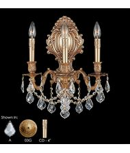 American Brass and Crystal WS9425 9420 Series 14 Inch Wall Sconce