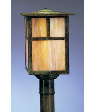 Arroyo Craftsman MP-10 Mission 1 Light Outdoor Post Lamp