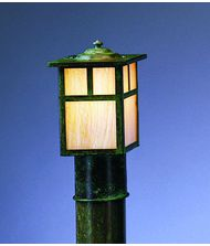 Arroyo Craftsman MP-5 Mission 1 Light Outdoor Post Lamp