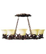Craftmade 91388 Toscana 38 Inch Lighted Pot Rack