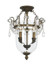 Crystorama 5711 New Town  13 Inch Semi Flush Mount