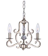 Crystorama 9347 Orleans  12 Inch Mini Chandelier