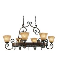 Golden Lighting 3890-PR62 Meridian 27 Inch Lighted Pot Rack
