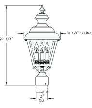 Hanover Lantern B9530 Plymouth Medium 3 Light Outdoor Post Lamp