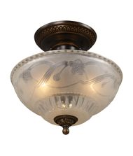 Landmark Lighting Restoration 11 Inch Semi Flush Mount