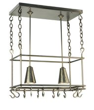 Meyda Lighting 123933 Spartan 26 Inch Lighted Pot Rack