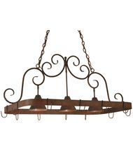 Meyda Lighting 125092 Elana 46 Inch Lighted Pot Rack