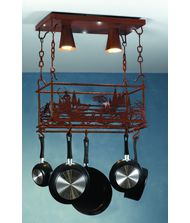Meyda Lighting 82884 Fly Fishing Creek 24 Inch Lighted Pot Rack