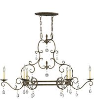 Murray Feiss F2304 6 Chateau 42 Inch Wide Island Light