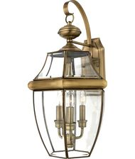 Quoizel NY8318 Newbury 3 Light Outdoor Wall Light