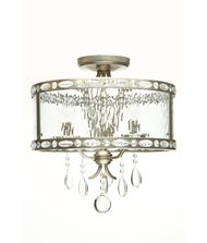 Vanilla Ice Lighting 1201SF3 Vanilla Rain 16 Inch Semi Flush Mount